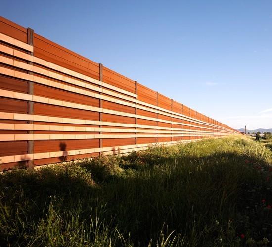 corten steel noise barrier