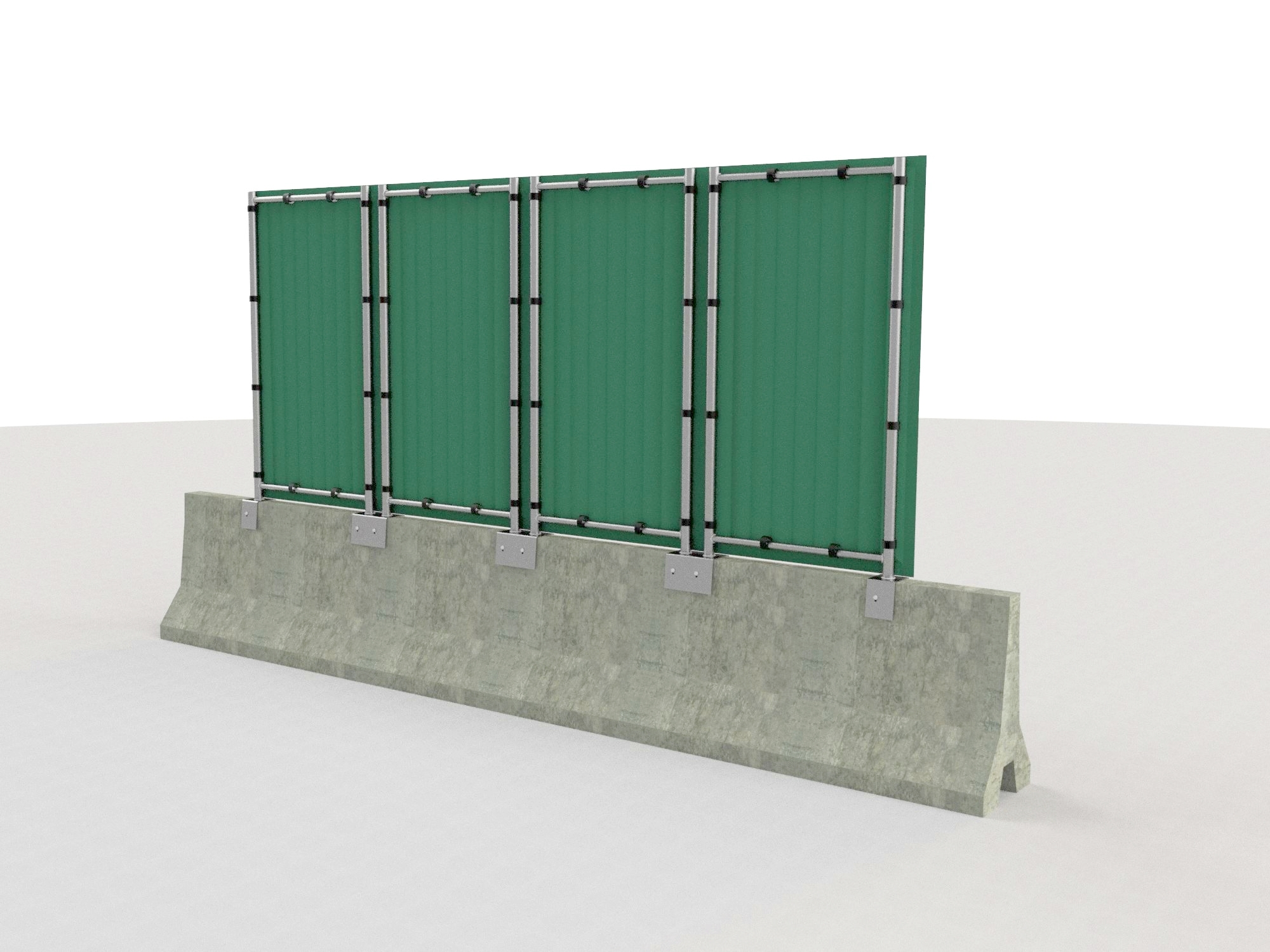 Barriera antirumore da cantiere su new jersey - pannelli Rapida