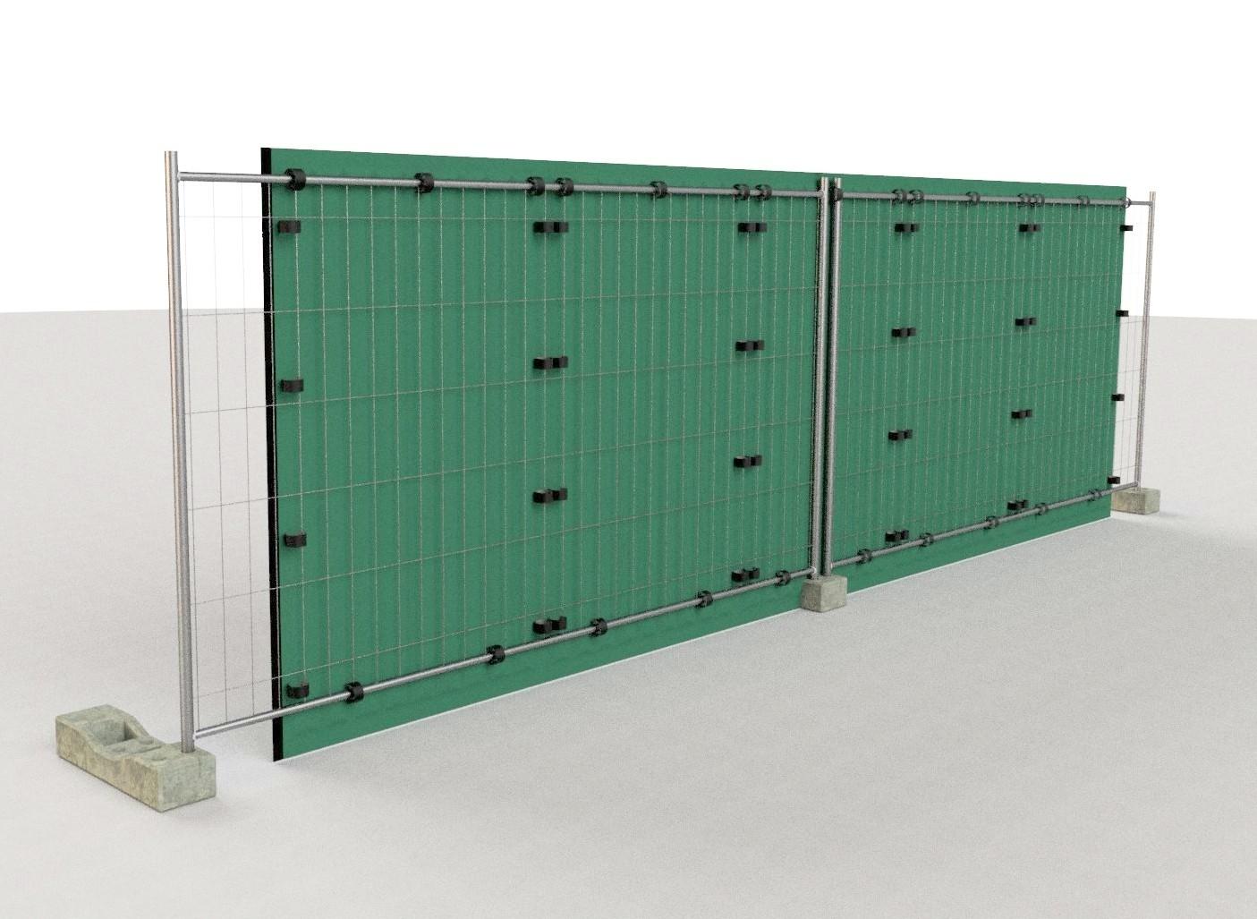 Barriera antirumore da cantiere su recinzione - pannelli Rapida